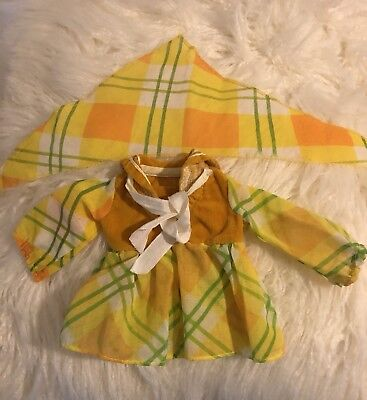 "Vintage Ideal Crissy Velvet Original Outfit Of The 1971 Collection ""Glad Plaid"""