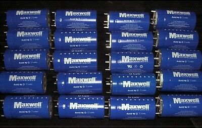 Authentic Maxwell D Cell Ultracapacitor  350 Farad BCAP350 24 PCS BOOSTCAP