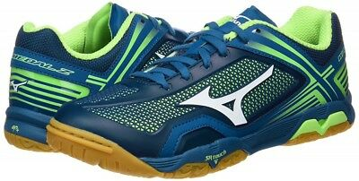 Mizuno Table Tennis Shoes WAVE MEDAL Z 81GA1710 Navy × White × Light Green Japan