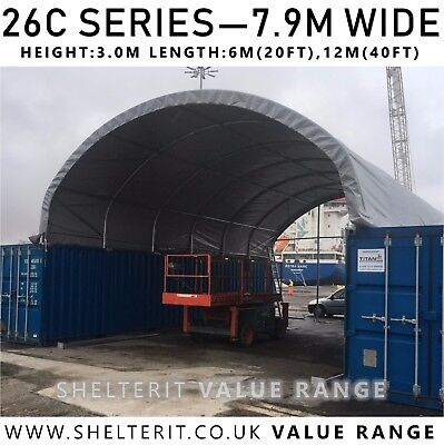 26C Series - Container Canopy Roof - Industrial Steel Frame Shelter
