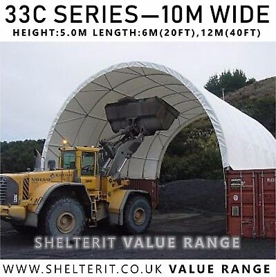 33C Series - Container Canopy Roof - Industrial Steel Frame Shelter