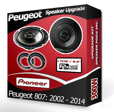 "Peugeot 807 Front Door speakers Pioneer 17cm 6.5"" car speakers 300W"