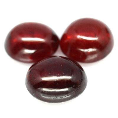10.17 Ct Natural! 3Pcs Red Spessartite Garnet Oval Cabochon African Exceptional