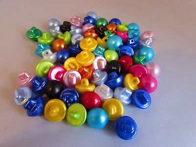 12mm Half Ball Pearl Look Buttons Shank Fastening in Asst Colours & Pack Sizes