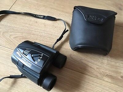 "Nikon Eagleview Black Binoculars 8-24x25. 4.6"" At 8x Zoom Excellent Condition"