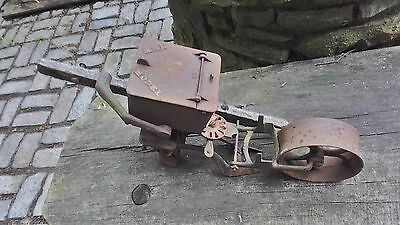 1890's Industrial New Model Seeder Wheel & Parts, Steampunk