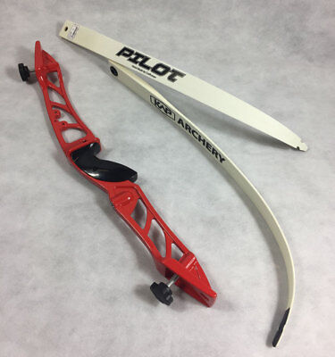 Archery Men's Metal Recurve Bow Set Complete With String & Arrow Rest ** Red **