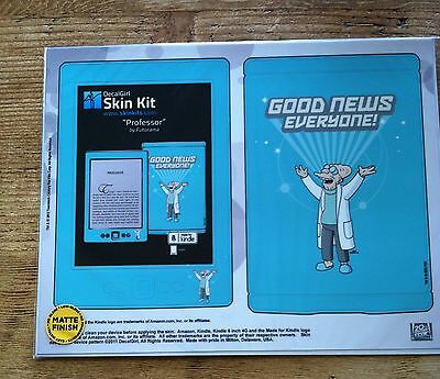 Amazon Kindle 4th Gen DecalGirl Matte Skin Kit  ~ Prof Farnsworth Futurama New