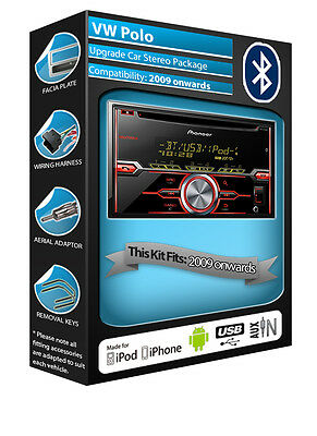 VW Polo CD player, Pioneer car radio AUX USB in, Bluetooth Handsfree