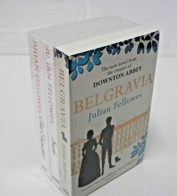 Set of 3 Julian Fellowes Novels Books Belgravia Snobs Past Imperfect Fiction NEW