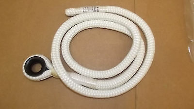 "1/2"" x 4' Lanyard with Thimble,Aborist Rope, 16-Strand Braided Line, Brand NEW"
