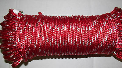 """7/16"""" (11mm) x 46' Double Braid Sail/Halyard Line, Jibsheets, Boat Rope -NEW"""