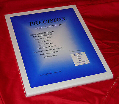 100 sheets Precision Overhead Transparency Film Paper for overhead projector