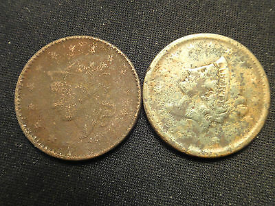 2 Cull Large Cents Not Holed Or Bent