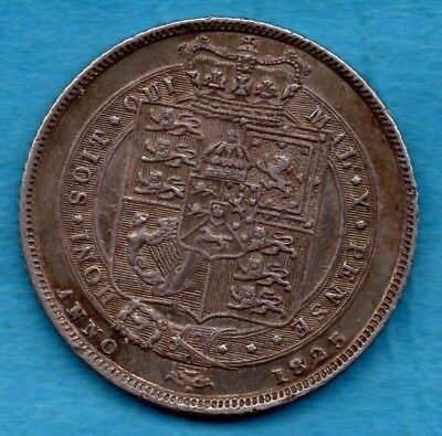 1825 SILVER SIXPENCE COIN. KING GEORGE IV. 6d.