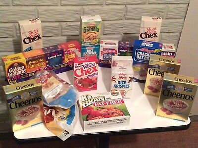 VINTAGE Cereal Free Sample Size Collection...excellent condition...12 pcs