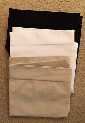 3 Maternity Bellabands, Belly Bands, White, Black And Tan, Size 2 Or M/L, New