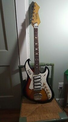 VTG Norma 1960's EG421 4 Pickup Electric Guitar in Sunburst