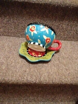 "JOYCE SHELTON "" tea party"" cup and saucer"