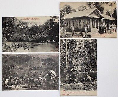 Lot de 4 CPA : Congo Français,Collection J.Audema.