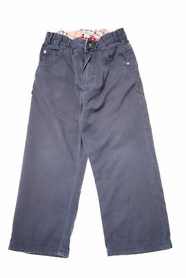 BURBERRY Boys Trousers Size 2T Small Navy Blue Cotton