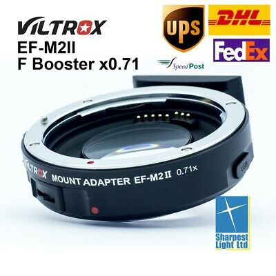 In-Stock Viltrox EF-M2 Electronic Adapter F Booster 0.71x for Canon to M43