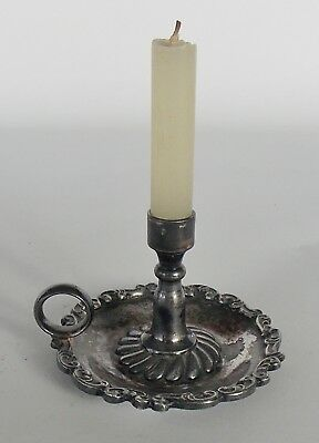Victorian Miniature Silverplate Candlestick, Childs or Wax Sealers, Wilcox plate