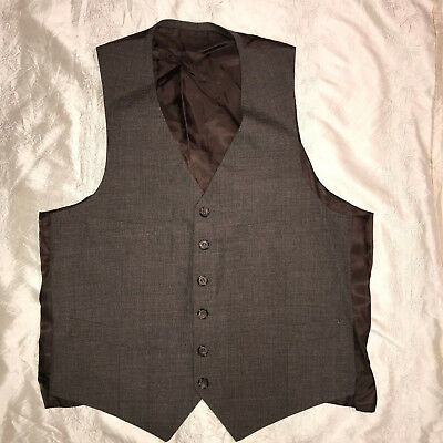 MENS  Victorian Edwardian Sherlock Holmes Dickens brown VEST size S 38