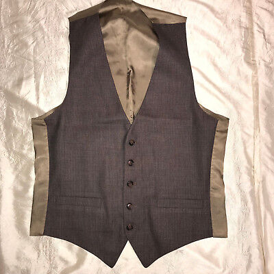 MENS  Victorian Edwardian Sherlock Holmes Dickens brown VEST size M 40 check