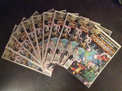 Crisis on Infinite Earths #1 - NM Lot Of 10 All Newsstand Editions HTF
