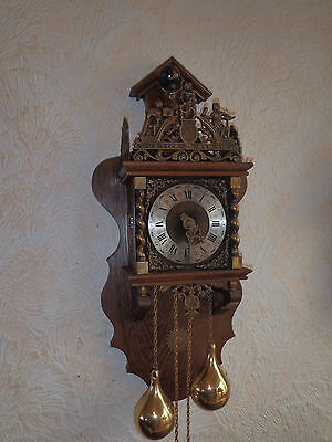 Dutch Atlas wall clock,large chiming wall clock with quality FHS workings