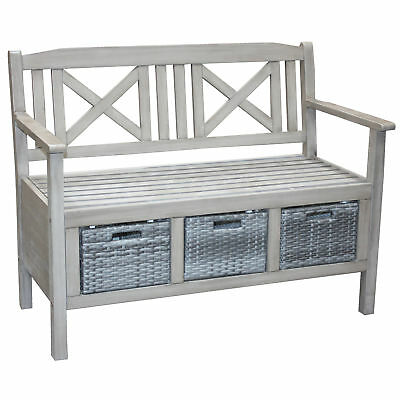 NEW Barbados Storage Outdoor Timber Bench Temple & Webster Outdoor Benches