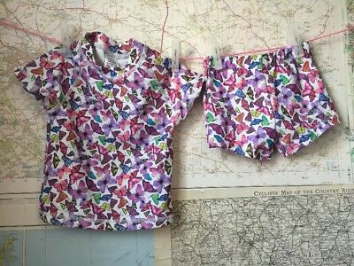 Next Baby Girls 2 Piece Swimsuit 3-6 Months Butterfly Pattern