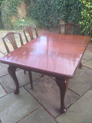 Extendable dinning table Victorian Mahogany
