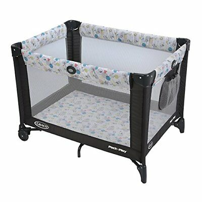 Graco Pack and Play Travel Portable Playard Automatic Folding Feet Safe Carnival