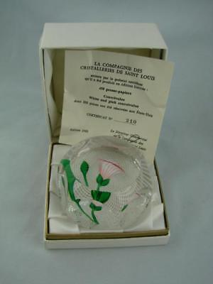 Saint Louis Paperweight, 1983 Convolvulus, Ltd Ed 210/450 Certificate + Box