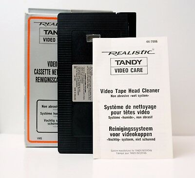 Vintage Realistic TANDY Video Care VHS Tape Head Cleaner Non Abrasive Wet System