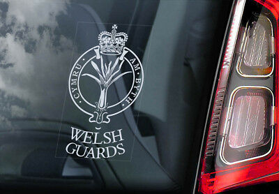 The Welsh Guards - Car Window Sticker - Military British Army Badge Sign Decal