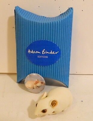 Adam Binder - Charm, Nesuke Or Pendent - Mouse With Button - New In Box