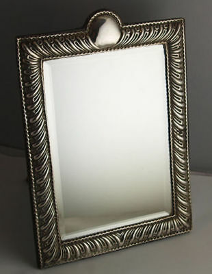 Elegant William Comyns Solid Silver Dressing Table Mirror - London 1938.