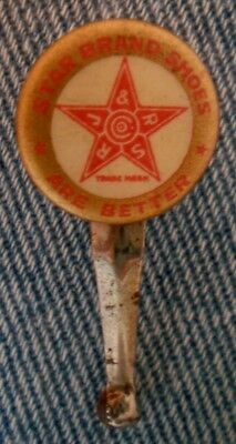 "Pre 1920 Star Brand Shoes Are Better 3/4"" Celluloid Advertising Pencil Clip"
