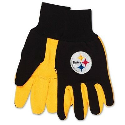 Pittsburgh Steelers Two Toned Team Colors Sport Utility Gloves Winter Summer NWT