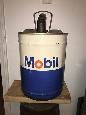 Vintage 5 Gallon Mobil Oil Can 1970's