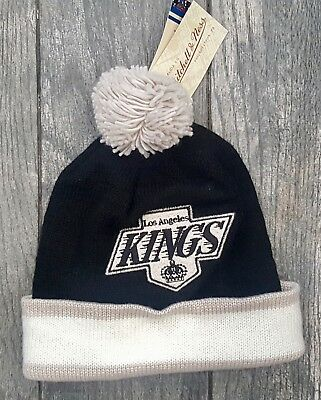 3e1023b15e3 Los Angeles Kings Mitchell   Ness Nhl Sport Knit Pom Beanie Cap Hat Kc84Z