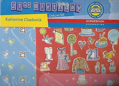 Scrapbooking - Deluxe Kit - '21st Birthday'  Papers & Embellishments- #17169