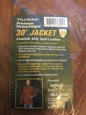 "Tillman Heavyweight 30"" Cowhide Leather Jacket 3280-2x Size 2x-large"