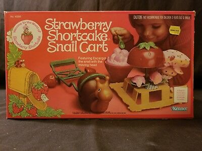 vintage strawberry shortcake snail cart