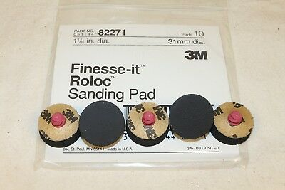 "(5) 3M Finesse-it 1-1/4"" Roloc TR Medium Foam Sanding PSA Disc Pad 82271"