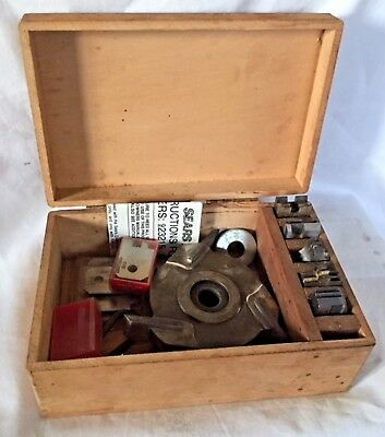 Craftsman Molding Head With 8 Different Profiles  Wooden Box With Original Paper