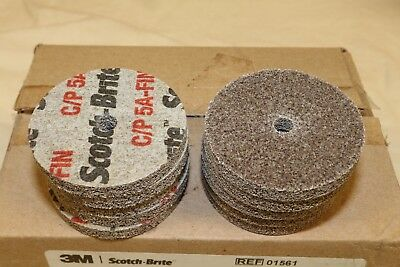 "(10) 3M Scotch Brite Cut & Polish Unitized Wheel 5A Fine 2"" x 1/4"" x 1/4"""